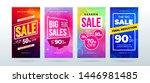 set of dynamic modern fluid... | Shutterstock .eps vector #1446981485
