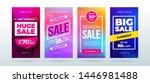 set of dynamic modern fluid...   Shutterstock .eps vector #1446981488