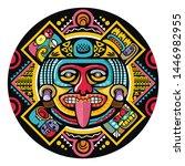 colorful aztec decorative...   Shutterstock .eps vector #1446982955