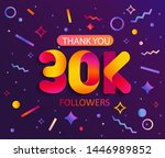 thank you 30000 followers... | Shutterstock .eps vector #1446989852