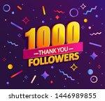thank you 1000 followers thanks ... | Shutterstock .eps vector #1446989855