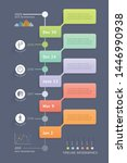 business infographic elements... | Shutterstock .eps vector #1446990938
