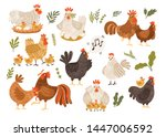 Collection Of Rooster  Hen And...