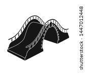vector illustration of bridge... | Shutterstock .eps vector #1447012448