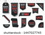 black friday sale ribbon...   Shutterstock .eps vector #1447027745