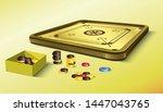 Vintage Carrom Board  Coins An...