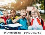 group of happy elementary...   Shutterstock . vector #1447046768