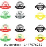 made in guinea collection of... | Shutterstock .eps vector #1447076252