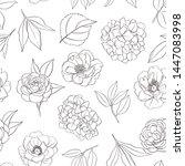 seamless floral pattern ... | Shutterstock .eps vector #1447083998