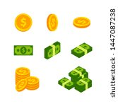 money cash and coins vector... | Shutterstock .eps vector #1447087238