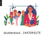 medical insurance illustration  ... | Shutterstock .eps vector #1447093175