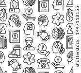 psychologist seamless pattern... | Shutterstock .eps vector #1447113155