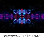 light effects. neon glow.... | Shutterstock . vector #1447117688