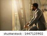 wait for plane. african...   Shutterstock . vector #1447125902