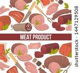 butchery shop meat product... | Shutterstock .eps vector #1447129508