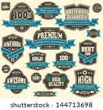 premium quality labels | Shutterstock .eps vector #144713698