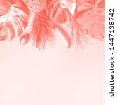 creative layout. gold pineapple ... | Shutterstock . vector #1447138742