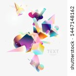 abstract background  of 3d ... | Shutterstock .eps vector #1447148162