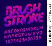 brush stroke alphabet font....   Shutterstock .eps vector #1447161965