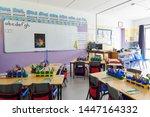 Empty Classroom In Elementary...
