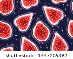 vector seamless pattern with... | Shutterstock .eps vector #1447206392