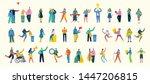 vector illustration in a flat... | Shutterstock .eps vector #1447206815