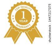 one year warranty icon vector | Shutterstock .eps vector #1447217375