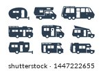 rv cars  recreational vehicles  ... | Shutterstock .eps vector #1447222655