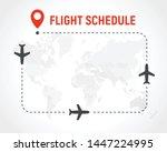 blank flight schedule  border... | Shutterstock .eps vector #1447224995