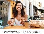 portrait of delighted nice... | Shutterstock . vector #1447233038
