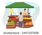 fruits and vegetables market... | Shutterstock .eps vector #1447237058
