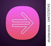 double lined arrow app icon....