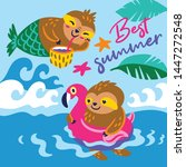 best summer vector card with a... | Shutterstock .eps vector #1447272548