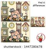 watchmaker repairing broken old ... | Shutterstock .eps vector #1447280678