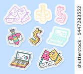 set of business stickers  pins  ... | Shutterstock .eps vector #1447283552
