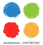 colorful circle frames. grunge... | Shutterstock .eps vector #1447287242