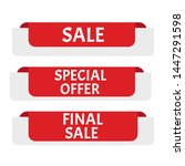 sale banner. sticker or... | Shutterstock . vector #1447291598