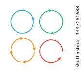 circular arrows. arrows...   Shutterstock . vector #1447291688