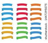 flat vector ribbons banners... | Shutterstock .eps vector #1447295075