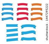 glossy waving ribbon banners... | Shutterstock .eps vector #1447295222