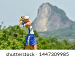 Small photo of Cloe Frankish of England in action during The Ladies European Thailand Championship 2019 Round 2at Phoenix Gold Golf&Country Clubon June 21, 2019 in Pattaya Chonburi, Thailand.