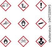chemical  symbol  hazard ... | Shutterstock .eps vector #1447320095