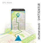 city map route navigation... | Shutterstock .eps vector #1447326518
