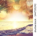 tropical beach | Shutterstock . vector #144735292