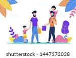 two bearded man walk with their ...   Shutterstock .eps vector #1447372028