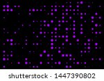 purple dot bubbles isolated in... | Shutterstock .eps vector #1447390802