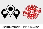 vector map markers icon and... | Shutterstock .eps vector #1447432355