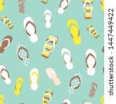 flip flop color summer pattern. ... | Shutterstock .eps vector #1447449422