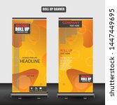 roll up business brochure flyer ...   Shutterstock .eps vector #1447449695