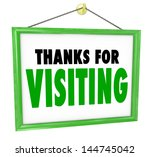 thanks for visiting hanging... | Shutterstock . vector #144745042